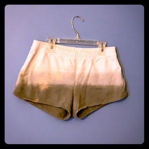 Cotton ombré shorts